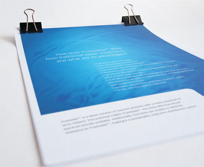 Details des Corporate Designs von Trustwater.